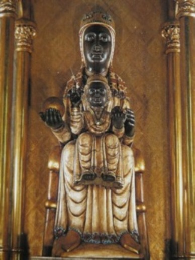 La Moreneta. Black Madonna and Child statue at Montserrat, Spain