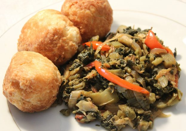 Callaloo, Dumplings and Saltfish