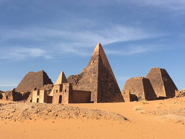 The Ancient Pyramids Of Meroe In Sudan