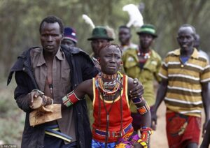 A man kidnapping a woman in Latuka tribe of South sudan