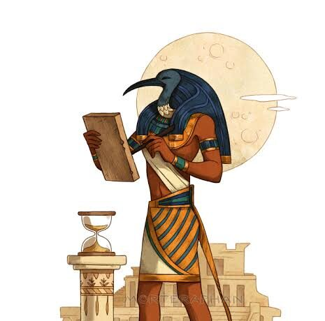 Thoth, the Egyptian god of wisdom.