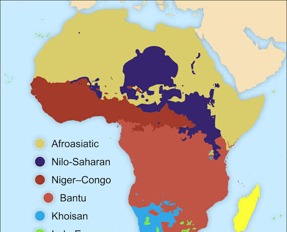 Top languages in Africa(photocredit: Wikipedia)