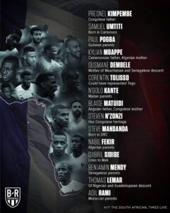 France, the African team